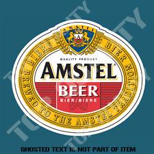 AMSTEL DUTCH BEER DECAL STICKER FOR BAR FRIDGE ESKI COOLER MANCAVE SHED CAR