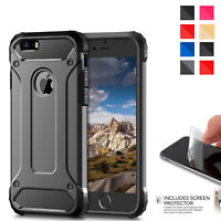 For Apple iPhone X 8 7 Plus 6s 5s Hybrid Armor Shockproof Rugged Bumper Case NEW
