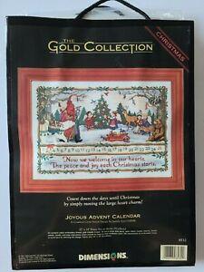 DIMENSIONS GOLD COLLECTION JOYOUS ADVENT CALENDAR CROSS STITCH KIT NEW 8532