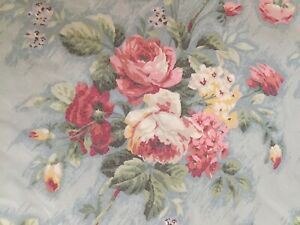 Vintage ACTIL Ruffled Quilt Cover + Four Pillowcases Country House Cabbage Roses