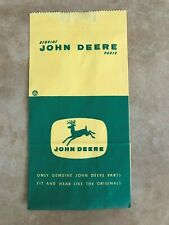 Vintage John Deere Paper Parts Bag 1950's - 1960's New Old Stock 4 Legged Deer