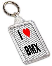 I Love BMX Keyring - Gift - Birthday - Christmas - Stocking Filler