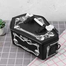 Women Vampire Skull Bat Messenger Bag Harajuku Style Coffin Shape Shoulder Bag