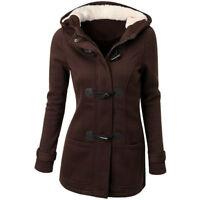 Womens Warm Slim Jacket Hooded Trench Parka Long Overcoat Winter Fashion Outwear