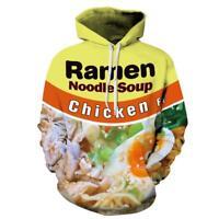 Women/Men Ramen Noodle Chicken Soup 3D Print Casual Hoodies Sweatshirt