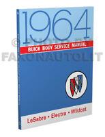 1964 Buick Body Shop Manual 64 LeSabre Wildcat Electra Repair Service