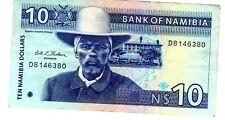 Namibie NAMIBIA Billet 10 Namibia DOLLARS ND 1993 P1 GAZELLE BON ETAT