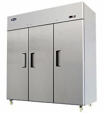 ATOSA MBF8006 THREE 3 DOOR STAINLESS STEEL COMMERCIAL REFRIGERATOR UPRIGHT TOP