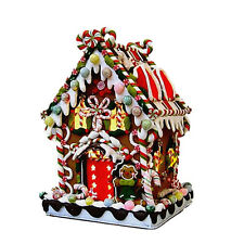 """RETIRED 2011 ADLER 8 5/8"""" GINGERBREAD CANDY LIGHTED HOUSE, ADORABLE FREE S/H"""
