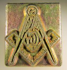Discontiued Midas / Craftool  Masonic Emblem. 1'' Leather Craftool Stamp