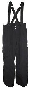 Spyder Men's Troublemaker Suspenders Black Thinsulate Ski Snowboard Pants L-R