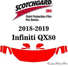 3M Scotchgard Paint Protection Film Pro Serie Clear Fits 2018 2019 Infiniti QX80
