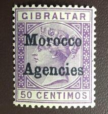 Morocco Agencies 1899 50c Bright Lilac SG14 Light Gum Tone MNH