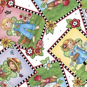 1.5 Yards Mary Engelbreit Mary's Fairies Picture Patches Cotton Fabric 25891-Z