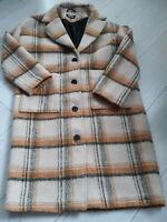 Tigha Damen Oversize Mantel Halma Golden Check Size S UVP: 249,90 €