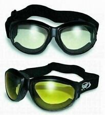 (2 Goggles) Motorcycle Riding Clear & Yellow Glasses Sunglasses Burning Man Atv