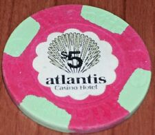 $5 1ST ISSUE CHIP FROM THE ATLANTIS CASINO IN ATLANTIC CITY 1984-1989