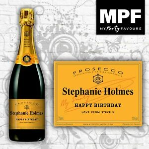 Personalised Prosecco BRUT Bottle Label - Birthday/Anniversary/Any Occasion