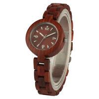 Women Watches Red Sandalwood Luxury Small Wood Watch Minimalist Wooden Band