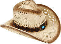 Unisex Super Cowboy Cowgirl Hat in 2 Tones w/ Fashionable Contrast Band Beige