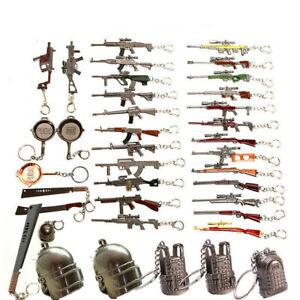 PUBG Playerunknown Battleground Pistol Helmet Keychain KeyRing Bag Charm Gift UK