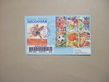 Singapore registered aerogramme with SPORT set of six  stamps