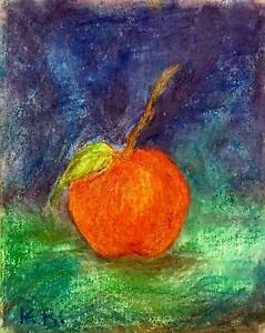 "Original Pastel Drawing, Kate Renowitzky, 'An Apple a Day', 8 x 10"" canvas board"