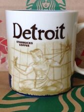 NEW w/SKU Starbucks DETROIT Icon 16 oz mug RARE! DISCONTINUED!