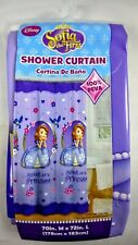 New Disney Princess Shower Curtain SOFIA Girls Bathroom Decor Purple Pink Peva