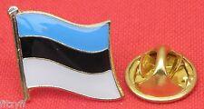 Estonia Estonian Country Flag Lapel Hat Cap Tie Pin Badge Brooch Republic