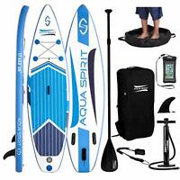 "Inflatable 10FT Paddle Board SUP Stand Up Paddleboard & Accessories - 6"" Thick"