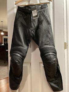Motorcylce Black Leather Jeans Triumph Misano Sport Pants