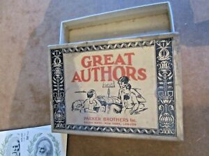 Vintage card game: Great Authors