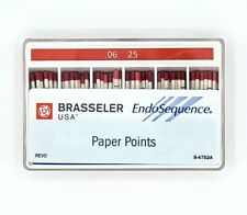 1 Pack Of Brasseler Endosequence Paper Points Size 25 Taper 06