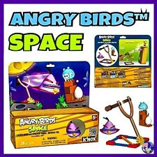 K'NEX ANGRY BIRDS SPACE Building Set LAZER BIRD vs FROZEN SMALL MINION PIG KNEX