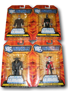 DC Justice League Unlimited 4 Figures Gotham City  Inc.   Bane Harley Scarecrow