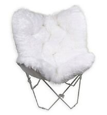 Butterfly Chair Faux Fur For Girls Folding Teens Dorm Room Furniture Boho Decor
