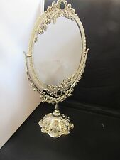 Silver Plated Dressing Table Mirror Silverware Glass Traditional Table Top