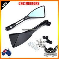 1 Pair black CNC Motorcycle Rear Side Mirrors For Yamaha TDM 900 FZ1 FZ6 XJ6 YBR