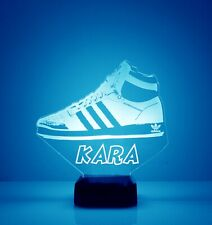 Sneakerhead Light Up, Personalized FREE, LED Desk Lamp, Engraved Gift