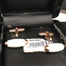 NEW Original Korloff gold and white color Cuff Links 642320225