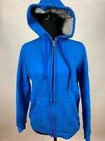 Champion Blue Solid Eco Fleece Hooded Pullover Sweatshirt Full Zip Womens Size S
