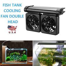 Mini Aquarium Cooling Fan Quiet Multi-angle Temperature Control Cooler Fans 12V