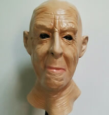 Realistic Old Man Mask Latex Male Disguise Halloween Fancy Dress OAP Grandad