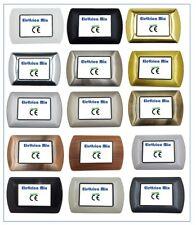 Placche Metallo compatibili Bticino Living International 3 4 7 posti vari colori