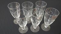 Set of 6 Cut Crystal Stemmed Wine Glasses 8 oz. Capacity