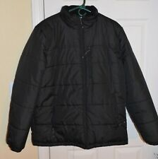 Men's ZEROXPOSUR Quilted Puffer Winter BLACK Jacket Coat ~ Size Large L