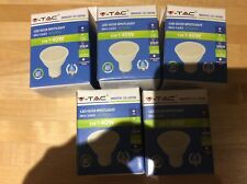 5 x V-TAC 5W (320Lumen} LED GU10 SPOTLIGHT WARM WHITE  3000k SKU-1685
