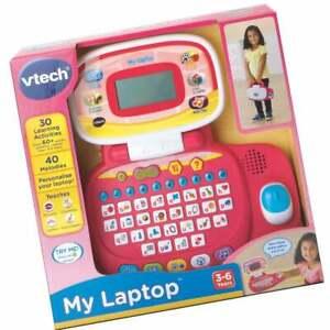 vTech Pre-School My Laptop - Pink includes Workbook & 30 Educational Activities