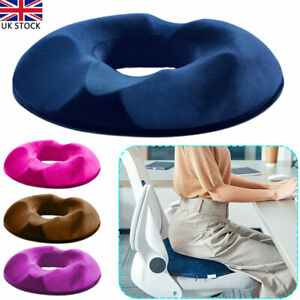 Memory Foam Cushion Comfort Donut Ring Car Chair Seat Pillow Coccyx Pain Relief